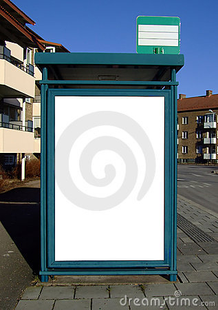 Bus stop with blank bilboard 03
