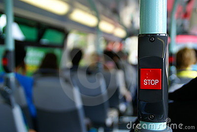 Bus stop button