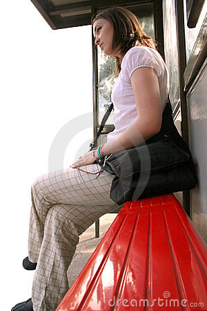 Bus stop girl - sally