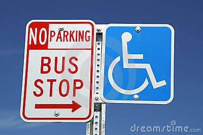Bus Stop & Handicap signs