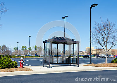 Shopping center bus stop