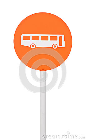 Free Bus Stop Sign Stock Photography - 27535192