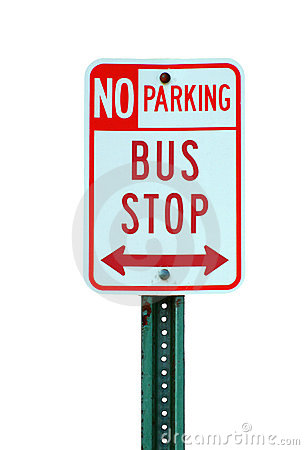 Bus Stop Sign Royalty Free Stock Photo - Image: 5119875