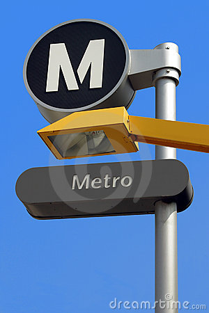 Bus-Subway station sign
