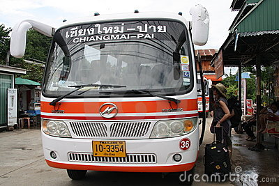 Bus in Thailand Editorial Image