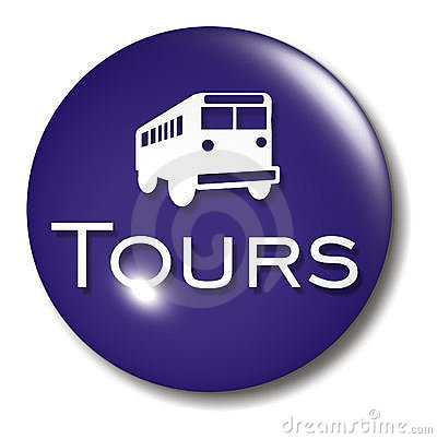 Bus Tours Button Orb sign