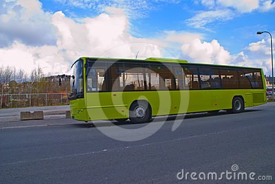 Bus at the train station (public bus)