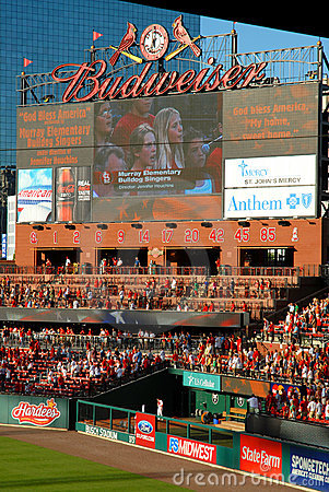 Busch Stadium Editorial Photography