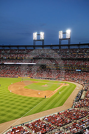 Busch Stadium at Night Editorial Stock Image