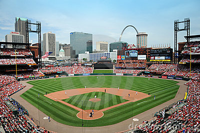 Busch Stadium in Saint Louis Editorial Photography