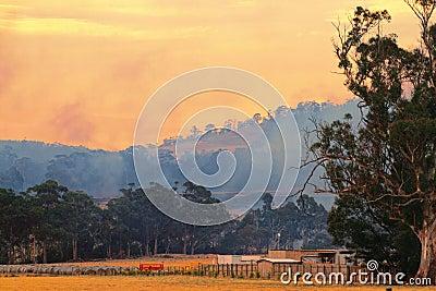 Bush fire Tasmania