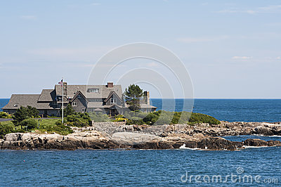 The Bush Residence at Walkers Point, Kennebunk Por Editorial Photography