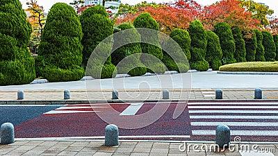 Bushes inside Hiroshima Peace Memorial Park