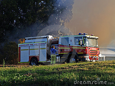 Bushfire Robina Editorial Stock Image