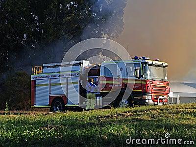 Bushfire Robina Editorial Stock Image