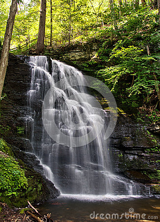 Bushkill Falls in the Pensylvania Pocono Mountains