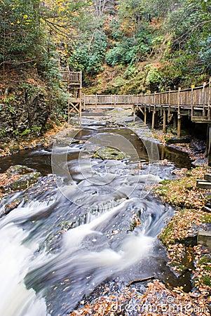 Bushkill Waterfall River