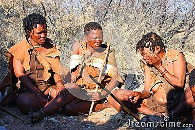 Bushman Editorial Stock Image