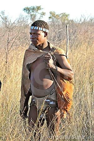 Bushman of Botswana Editorial Stock Image