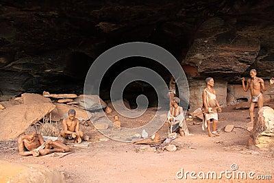 Bushmen cave scene