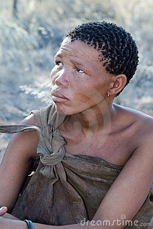 Bushmen woman Editorial Photo
