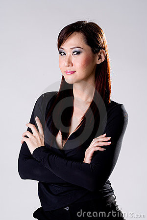 Businees woman with confidence smile