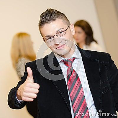 Busineesman giving you his thumb up