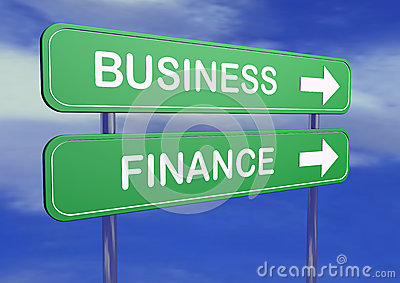 Busines and finance table signs