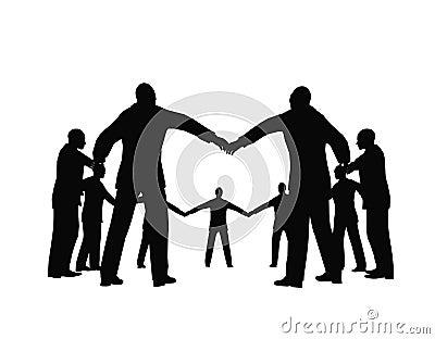 Busines people circle 3