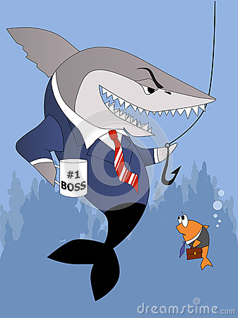 Busines shark is a bully boss