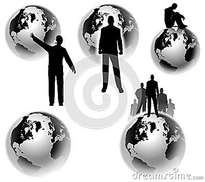 Businesman Earth Global Concepts