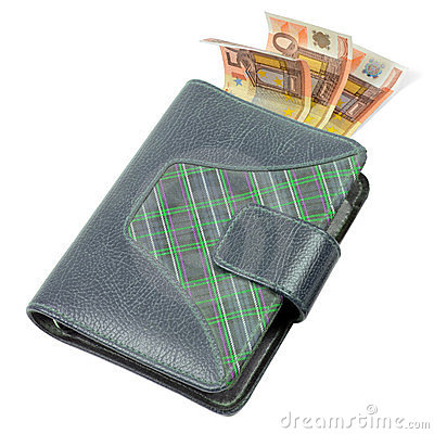 Business agenda with euro money