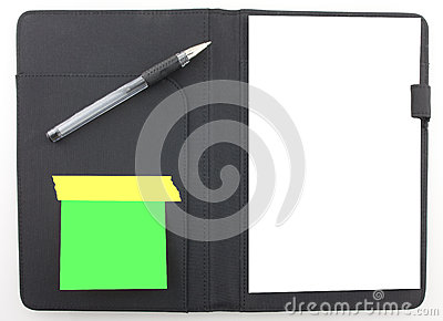 Business Agenda Planner With Black Pen