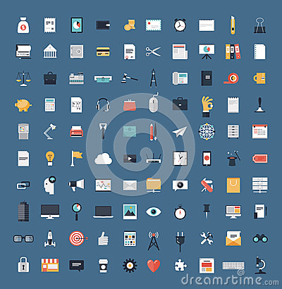Free Business And Finance Flat Icons Big Set Royalty Free Stock Image - 36684956
