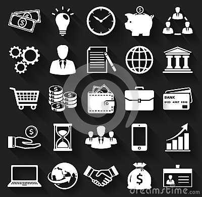 Free Business And Finance Flat Icons. Vector Set. Royalty Free Stock Photos - 44913748