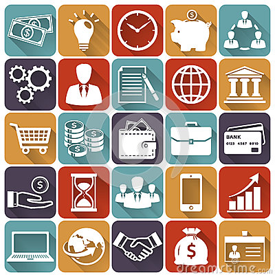 Free Business And Finance Flat Icons. Vector Set. Stock Photography - 46517672