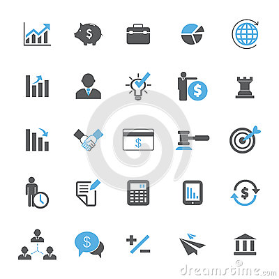Free Business And Finance Icon Set Stock Photo - 46636120