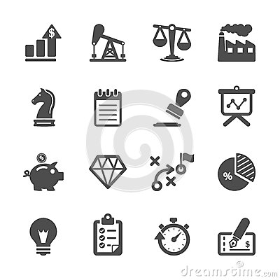 Free Business And Finance Icon Set, Vector Eps10 Stock Image - 46387191