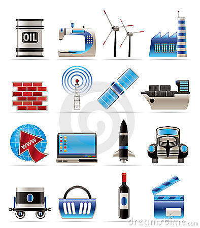 Free Business And Industry Icons Royalty Free Stock Images - 11477199