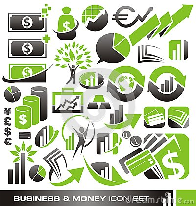 Free Business And Money Icon Set Stock Photos - 27551183
