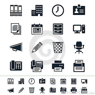 Free Business And Office Icons Stock Photo - 32019290
