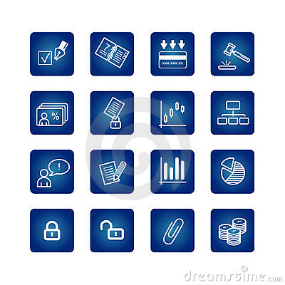 Free Business And Office Icons Set Royalty Free Stock Photography - 1767017