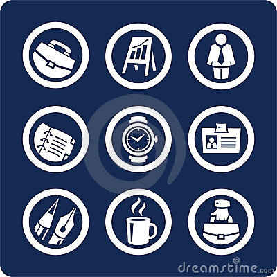 Free Business And Office Icons (set 5, Part 1) Stock Photos - 389733