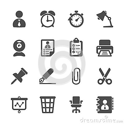 Free Business And Office Work Icon Set, Vector Eps10 Stock Photos - 45721333
