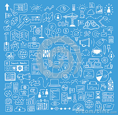 Free Business And Website Development Doodles Elements Royalty Free Stock Image - 34704976