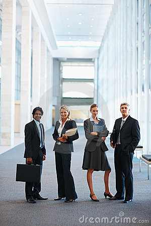 Business associates standing together