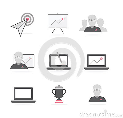 Business b2b icons vector