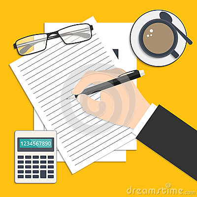 Report Writing Stock Photos and Images