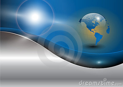 Business background with world globe
