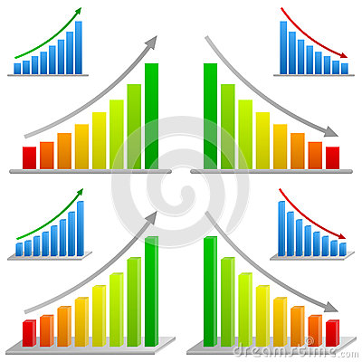 Business Bar Charts Set